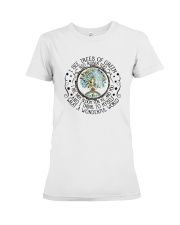 Myself What A Wonderful World Premium Fit Ladies Tee thumbnail