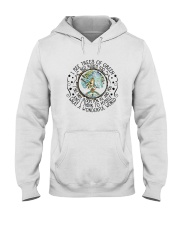 Myself What A Wonderful World Hooded Sweatshirt front