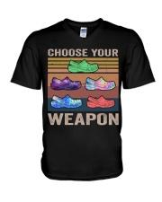 Choose Your Weapon V-Neck T-Shirt thumbnail