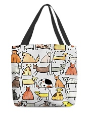 Love Dog All-over Tote front