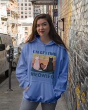 I'm Getting Meowied Hooded Sweatshirt lifestyle-unisex-hoodie-front-1