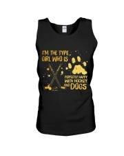 Hockey And Dogs Unisex Tank tile