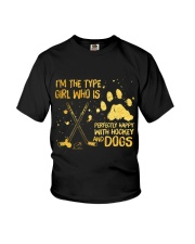 Hockey And Dogs Youth T-Shirt thumbnail