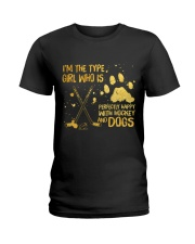 Hockey And Dogs Ladies T-Shirt thumbnail
