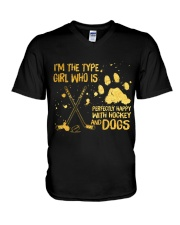 Hockey And Dogs V-Neck T-Shirt tile