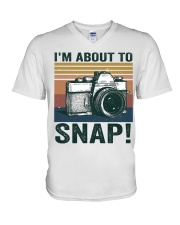 I'm About To Snap V-Neck T-Shirt thumbnail
