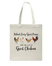 A Great Person Has Great Chickens Tote Bag thumbnail