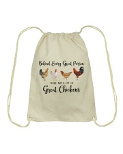 A Great Person Has Great Chickens Drawstring Bag thumbnail