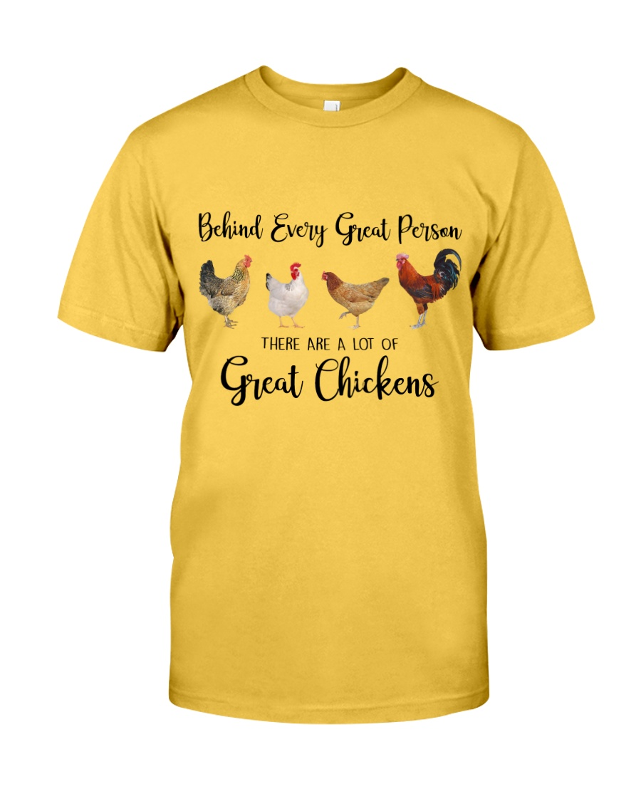 A Great Person Has Great Chickens Classic T-Shirt