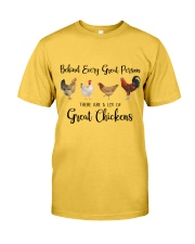 A Great Person Has Great Chickens Classic T-Shirt front