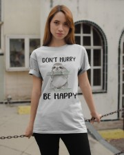 Dont Hurry Be Happy Classic T-Shirt apparel-classic-tshirt-lifestyle-19
