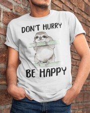 Dont Hurry Be Happy Classic T-Shirt apparel-classic-tshirt-lifestyle-26