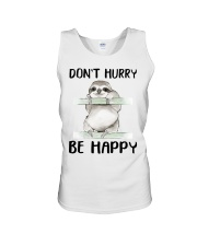 Dont Hurry Be Happy Unisex Tank tile