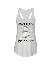 Dont Hurry Be Happy Ladies Flowy Tank thumbnail