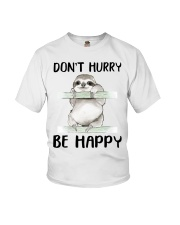 Dont Hurry Be Happy Youth T-Shirt thumbnail