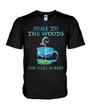 Come To The Woods V-Neck T-Shirt thumbnail