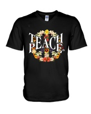 Teach Peace V-Neck T-Shirt thumbnail