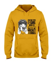 Hockey And Dogs Hooded Sweatshirt thumbnail