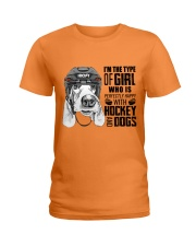 Hockey And Dogs Ladies T-Shirt tile