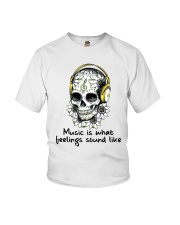 Music Is What Feelings Sound Like Youth T-Shirt thumbnail