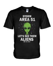 Storm Area 51 V-Neck T-Shirt thumbnail