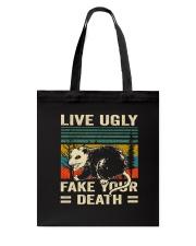 Live Ugly Fake Your Tote Bag thumbnail