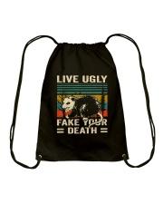 Live Ugly Fake Your Drawstring Bag thumbnail