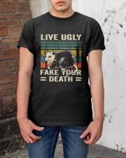 Live Ugly Fake Your Classic T-Shirt apparel-classic-tshirt-lifestyle-31