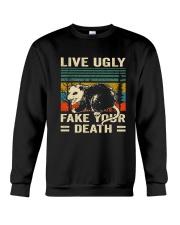 Live Ugly Fake Your Crewneck Sweatshirt thumbnail