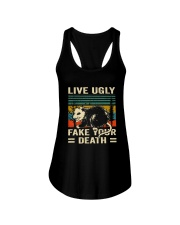 Live Ugly Fake Your Ladies Flowy Tank thumbnail