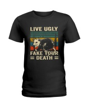 Live Ugly Fake Your Ladies T-Shirt thumbnail