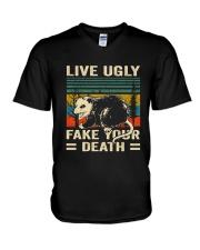Live Ugly Fake Your V-Neck T-Shirt thumbnail