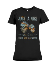Skulls And Has Tattoos Premium Fit Ladies Tee thumbnail