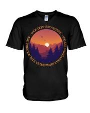 Look Deep Into Nature V-Neck T-Shirt thumbnail