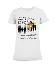 Playing The Piano Premium Fit Ladies Tee thumbnail