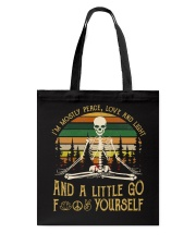 I'm Mostly Peace Love Tote Bag thumbnail