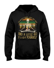 I'm Mostly Peace Love Hooded Sweatshirt tile