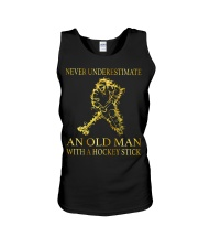 An Old Man With A Hockey Stick Unisex Tank thumbnail