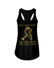 An Old Man With A Hockey Stick Ladies Flowy Tank thumbnail