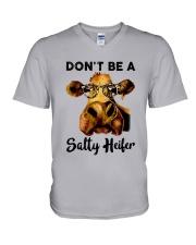 Dont Be A Satty Heifer V-Neck T-Shirt thumbnail