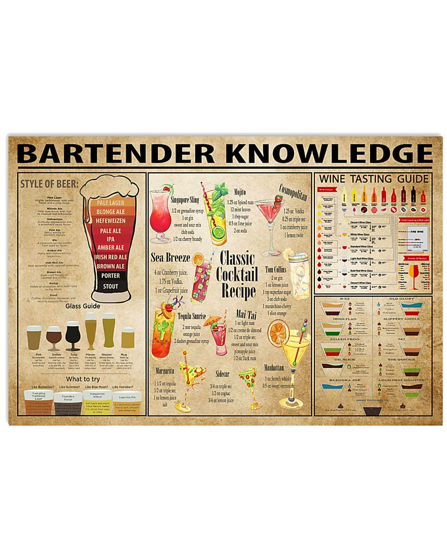 Bartender Knowledge 17x11 Poster