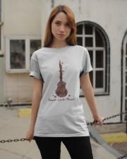 Peace Love Music Classic T-Shirt apparel-classic-tshirt-lifestyle-19