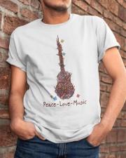 Peace Love Music Classic T-Shirt apparel-classic-tshirt-lifestyle-26