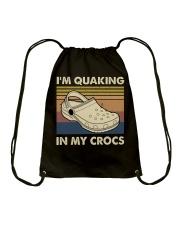 I'm Quaking In My Crocs Drawstring Bag thumbnail