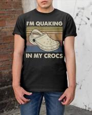 I'm Quaking In My Crocs Classic T-Shirt apparel-classic-tshirt-lifestyle-31