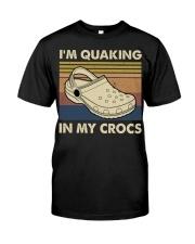 I'm Quaking In My Crocs Premium Fit Mens Tee thumbnail