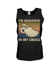 I'm Quaking In My Crocs Unisex Tank thumbnail