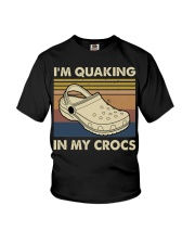 I'm Quaking In My Crocs Youth T-Shirt thumbnail