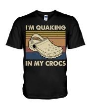 I'm Quaking In My Crocs V-Neck T-Shirt thumbnail