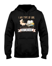 Ballet And Books Hooded Sweatshirt thumbnail